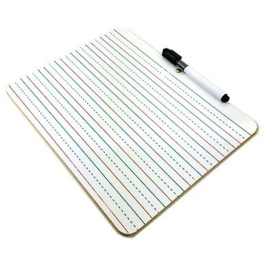 Dry Wipe Whiteboard Kids Learning Writing Drawing Magnetic A4 Message Board Pen