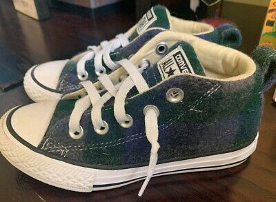 Converse Junior Mid top Blue Grey Double Thick Size 12 Kids Boys Girls Chucks