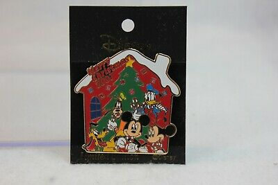 Disney Japan LE Pin M&P Merry Christmas 2007 Mickey Minnie Goofy Donald Pluto