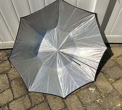 """Photogenic Eclipse 41"""" Silver Umbrella, Black Cover (Pair Of Two)"""