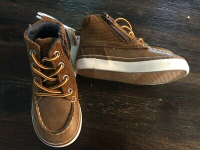 NWT BABY GAP BROWN CORD WORKER BOOTS TODDLER BOYS 6 NEW FALL WINTER corduroy