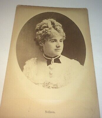 Rare Antique Famous Victorian Actress Adelaide Neilson! Jewelry Cabinet Photo!