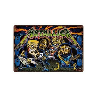 Metallica Pinball Game Tin Metal Sign Rustic Advertising Wall Art decor
