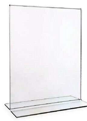 Clear Acrylic Bottom Load Display / Sign Holder Frames 8.5 x 11 Lot of (6) NEW!