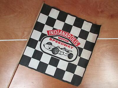 Vintage 50s Indianapolis Motor Speedway Checkered Flag Racing Indy 500 Brickyard