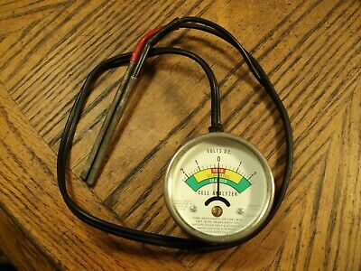 """Vintage 2-1/2"""" Dial Hoyt Elect. Battery Tester Cell Analyzer Volts D.C. No. CA-1"""