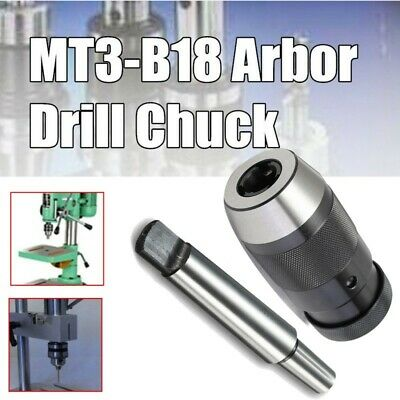 1-16MM Lathe Drill Chuck For Keyless 1/32- 5/8 Self Tighten Tools MT3-B18 Arbor