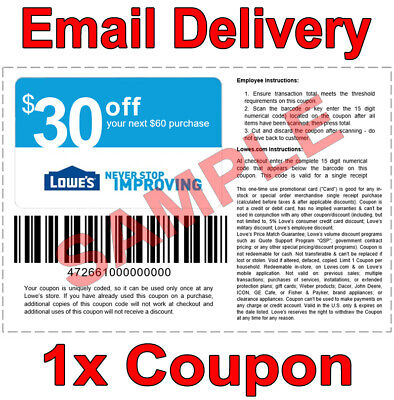 ONE (1X) LOWES $10 off $50 1COUPON DISCOUNT IN-STORE ONLINE INSTANT