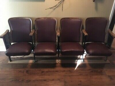 Vintage, Theater seats, Antique, Nevada City Theater, Ca.