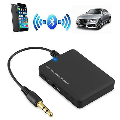 Car Wireless Bluetooth Audio Music Receiver AUX Adapter 3.5mm Dongle phone mp3