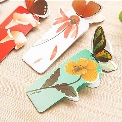 Fashion 50pcs Bookmark Butterfly Flower Book Mark Stationery School Prize Gifts