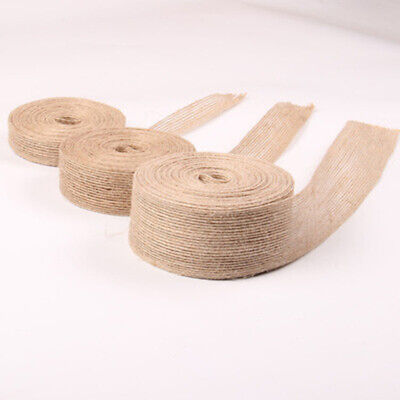 10m Roll Natural Jute Burlap Rustic Ribbon Tape Straps Wedding Tools Decoration