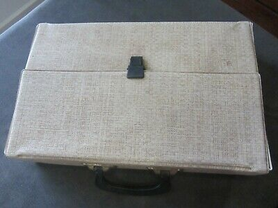Vintage retro music cassette storage case ,holds 40 tapes