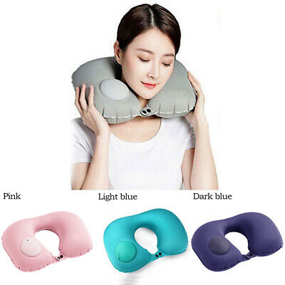 Portable U Shape Relax Rest Travel Pillow Cushion Car Airplane Inflatable Neck