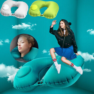 Inflatable Neck Pillow Portable Head Rest Pillows Cushion Travel Small U Shape