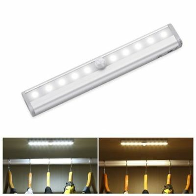 LED PIR Motion Sensor Battery Night Light Under Cabinet Closet Stair Drawer Lamp