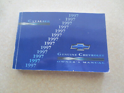1997 Chevrolet Cavalier owners manual - Chev USA ---