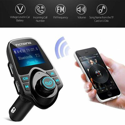 Wireless Bluetooth LCD Car MP3 FM Transmitter AUX Handsfree USB Charger Adapter