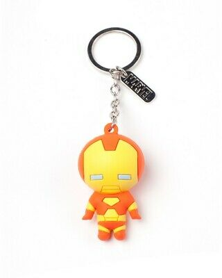 Official Marvel Iron Man 3D Rubber Keyring / Keychain