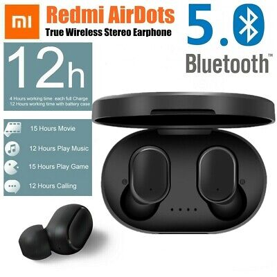 Headset For Xiaomi Redmi Bluetooth V5.0 TWS Airdots Stereo Earbud Ear Headphone