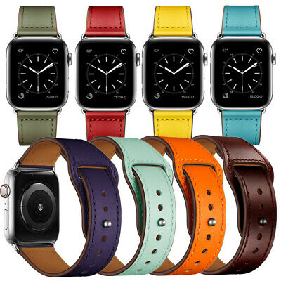 Retro Genuine Leather Band Men&Women Casual Strap for Apple Watch iWatch 4 3 2 1