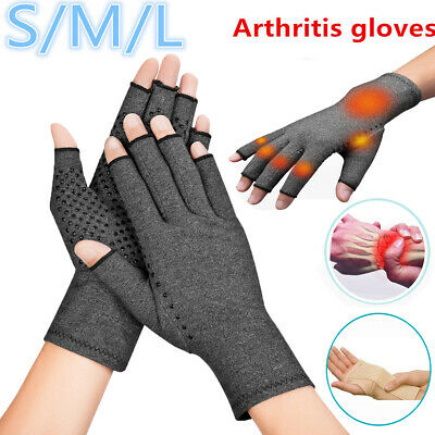 Copper Compression Arthritis Gloves Rheumatoid Hands Wrist Support Carpal Brace