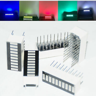 5PCS 10-Bar Segment LED Display Bargraph 1B4G3Y2R Red White Blue Green Yellow