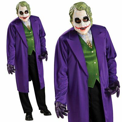 The Joker Deluxe Batman Dark Knight Halloween Mens Adults Fancy Dress Costume
