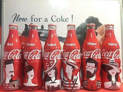 """Bottles / Bottiglie 12  Coca Cola NEW  Wrapped  """"Face of the city"""" Italy"""