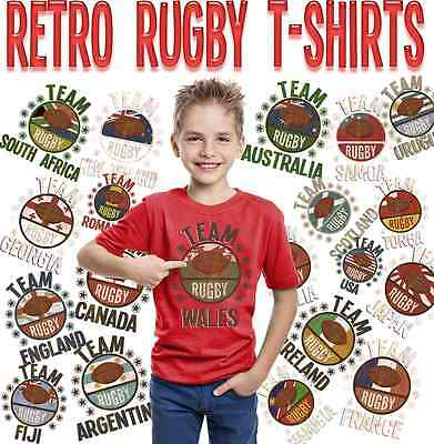 Team Rugby Kids TShirt WORLD CUP 2019  Wales Ireland England Scotland France