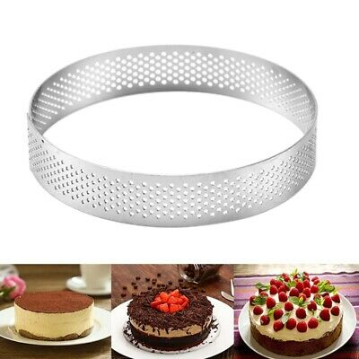 Straight Edge Perforated Stainless Steel Tart-Ring. De Buyer. Best Price 3*Sizes