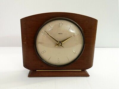 Smiths Enfield Mantel Clock Vintage 1950s Mid Century 8-Day Floating Balance