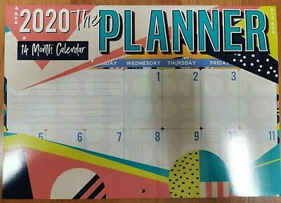 2020 Calender Wall Hanging 14 Month Calender The Planner