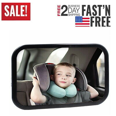 Car Seat Baby Mirror Adjustable Shatter-Proof Rear Facing Infant 360 Safety SF