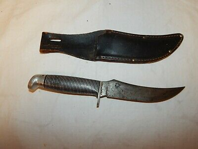 VINTAGE WESTERN BOULDER Colo  Hunting Knife With Sheath