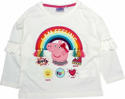 Peppa Pig Girls Rainbows Long Sleeve T Shirt