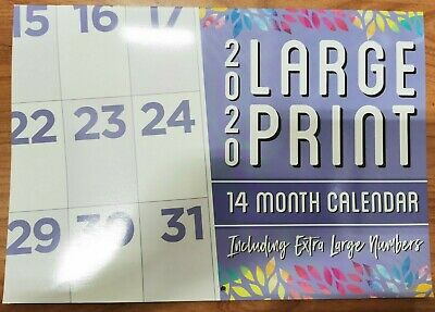 2020 Calender Wall Hanging 14 Month Calender Large Print