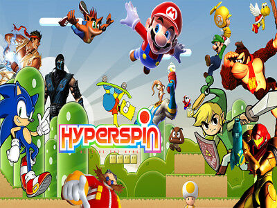 Hyperspin Retro gaming emulation collection arcade & retro console game 64gb usb