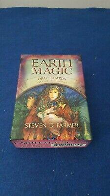 Earth Magic Oracle Cards 48 Deck + Guidebook By Steven Farmer