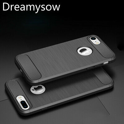 For iPhone 7 8 Plus X XR XS Max Covers Case Carbon Fiber Shockproof Soft Cover