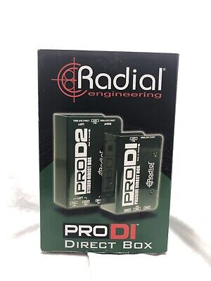 Radial Engineering ProD2 Stereo Passive Direct Box Pro DI Pro D2
