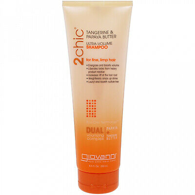 Giovanni, 2chic, Ultra-Volume Shampoo, For Fine Limp Hair, Tangerine and Papaya