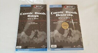 BCW Comic Book BOARDS & BAGS, 100 Count Each (Modern/Current)