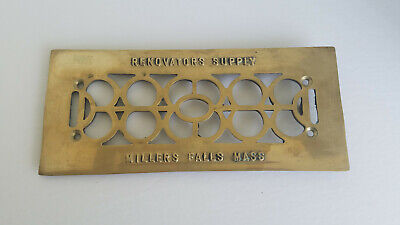 Solid Brass Renovators Supply Floor Wall Heat Air Vent Grate Plate