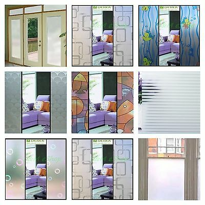 Decorative DIY Materials Frosted Glass Window Film Privacy Doors Curtains