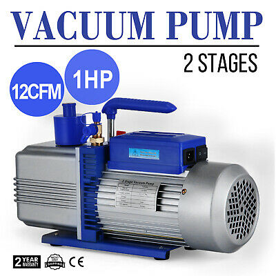 10CFM 2 BISTADIO 1HP POMPA DEL VUOTO Double Stage 2-Stage AC LATEST TECHNOLOGY