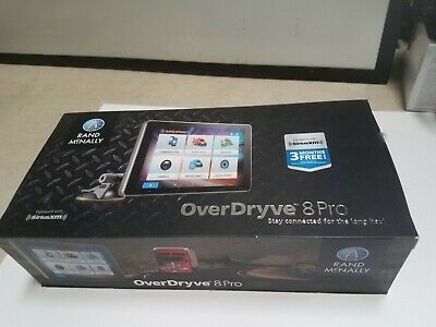 RAND MCNALLY OVERDRYVE 8Pro Truck GPS Integrates w/ Built-in Voice