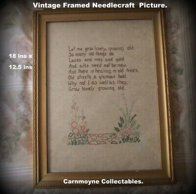 Vintage Needlecrafts/Embroidery Framed Picture.AH9020.
