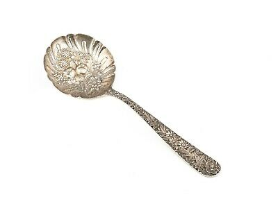 S. Kirk & Son Repose Decorated Sterling Silver Serving Spoon