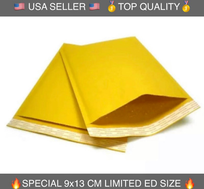 (USA SELLER) Kraft Bubble Mailers Padded Envelopes Protective Packaging: 9x13 CM